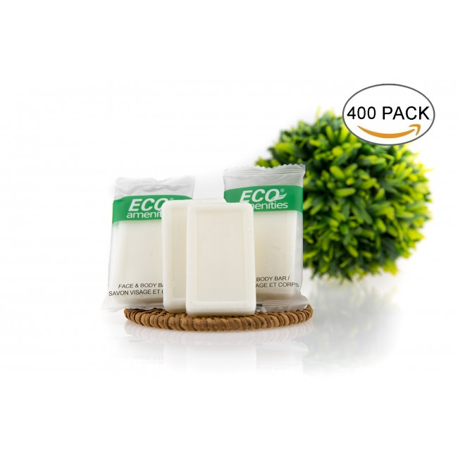 Travel Size 0.5oz Hotel Soap in Bulk, Green Tea, 400 Count