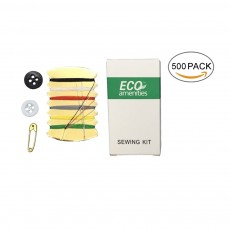 ECO AMENITIES Individually Wrapped Embroidery Compact Sewing Kit, Pack of 500