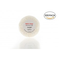 Hotel Travel Size Round Cleaning Soaps 1.0oz/28g, Individually Wrapped 300 Bars per Box