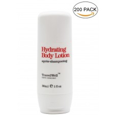 Hotel Travel Size Guest Body Lotion 1.0 Fl Oz/30ml, Individually Wrapped 200 Bottles per Box