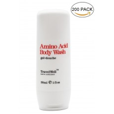 Hotel Travel Size Guest Body Wash 1.0 Fl Oz/30ml, Individually Wrapped 200 Bottles per Box