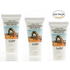 TRAVELWELL Landscape Series Hotel Travel Size Guest Shampoo & Conditioner 2 in 1, 1.0 Fl Oz/30ml, Individually Wrapped 200 Tubes per Box