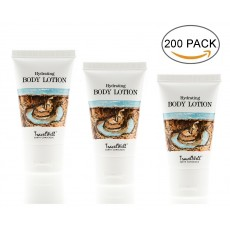 TRAVELWELL Landscape Series Hotel Travel Size Guest Body Lotion 1.0 Fl Oz/30ml, Individually Wrapped 200 Tubes per Box