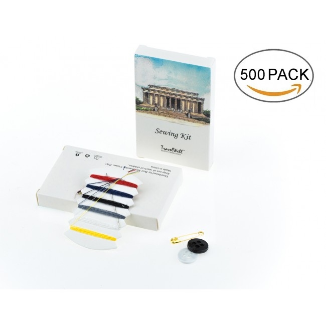 Individually Wrapped Embroidery Compact Sewing Kit, Pack of 500