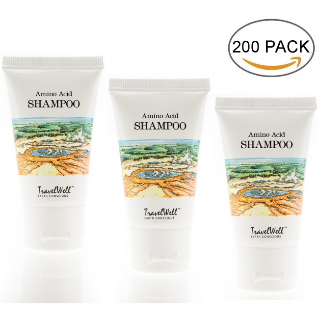 TRAVELWELL Landscape Series Hotel Travel Size Guest Shampoo 1.0 Fl Oz/30ml, Individually Wrapped 200 Tubes per Box