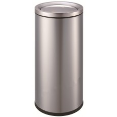 16Gallon/ 61Liter Luxurious Stainless Steel Trash Can Garbage Bin with Swing Cover (silver)
