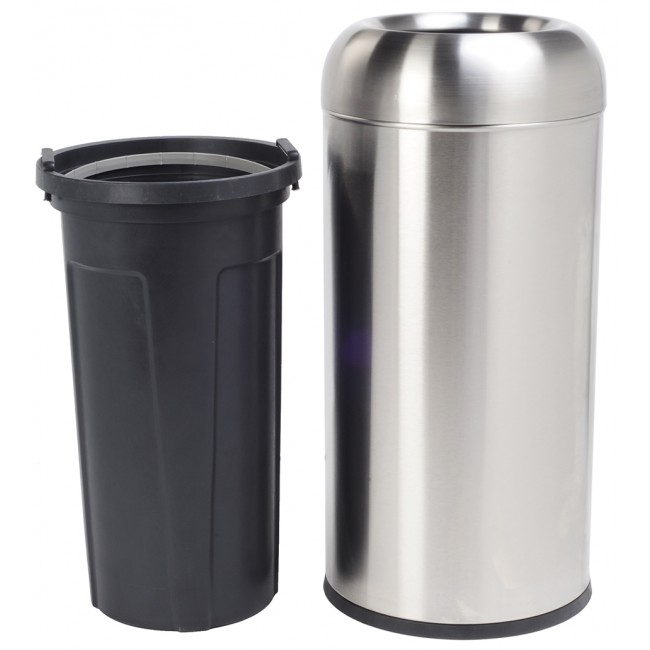 16 Gallon/60 Liter Finger Print Resistant Stainless Steel Trash Can Garbage Bin