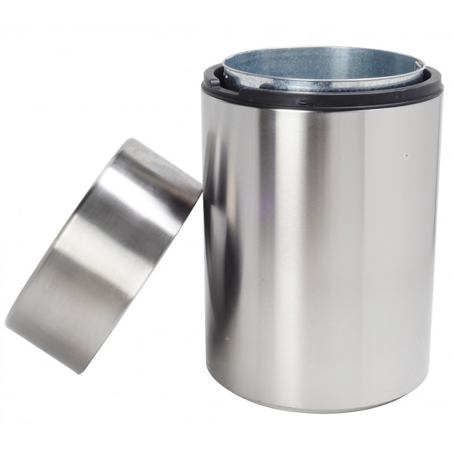 63 Gallon/240 Liter Heavy-duty Stainless Steel Trash Can Garbage Bin