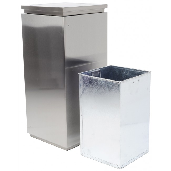 Stainless Steel Finger Print Resistant Swing Trash Can Garbage Bin