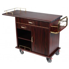 Serving Trolley Cart Kitchen Cooking Cart with Brake Casters