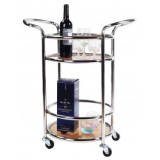 Stainless Steel Serving Cart with Easy Moving Flexible Wheels