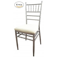 4-pack Heavy-duty Steel Indoor-Outdoor Chiavari/Banquet Chairs (With cushion)