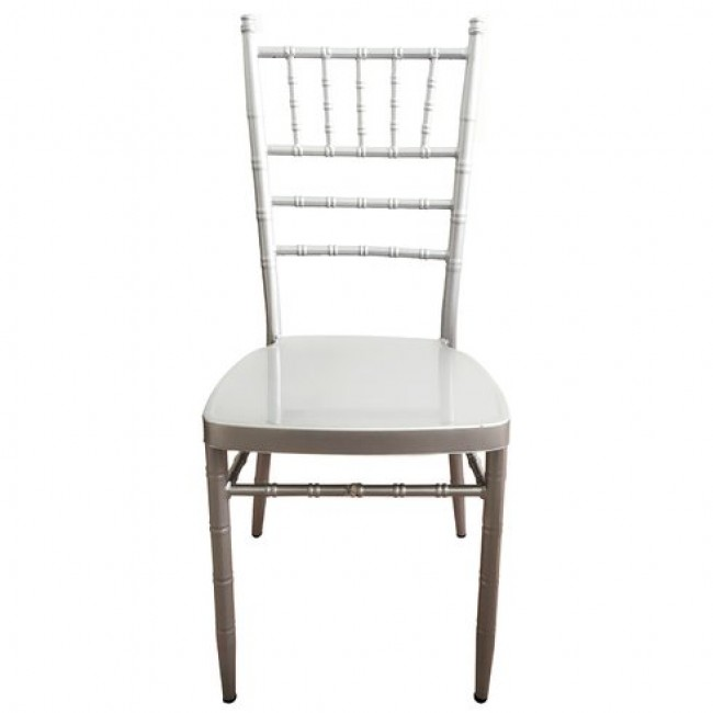4-pack Heavy-duty Steel Indoor-Outdoor Chiavari/Banquet Chairs (Without cushion)