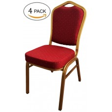 Aluminum Stacking Banquet Chairs with Sponge Seat 4 Pack