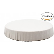 Round 3.54 Inch Diameter White Paper Cup Lids 1000/Pack