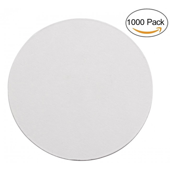 Round 3.54 Inch Diameter Thicker (0.8 MM) Non Slip Drink Plain White Paper Coaster Set of 1000