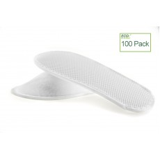 Hotel White Fleece Close Toe Spa Slippers, 100 Pairs