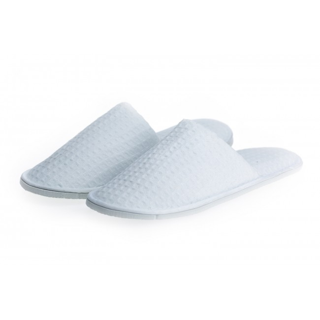 Hotel Waffle Close Toe Spa slippers, 60 Pairs