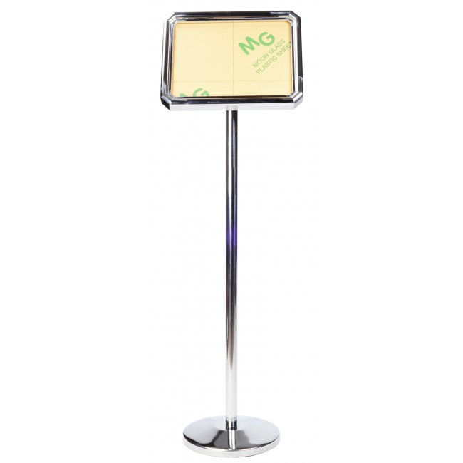 Stainless Steel Sign Holder with Post, Graphics Size 14 X 11 Inches