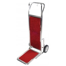 Stainless Steel Bellman's Cart Heavy Duty Luggage Dolly Cart Trolley