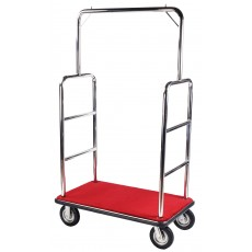 Stainless Steel Hotel Luggage Cart Bellman Cart Trolley service with carpet