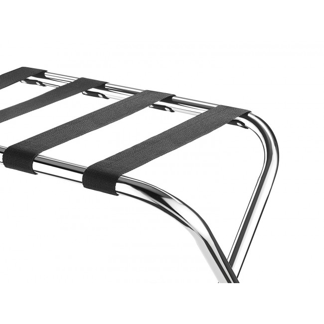 Folding Chrome Stainless Steel Luggage Rack without Back,2 Pack