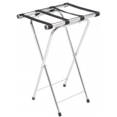 Folding Chrome Stainless Steel Tray Stand