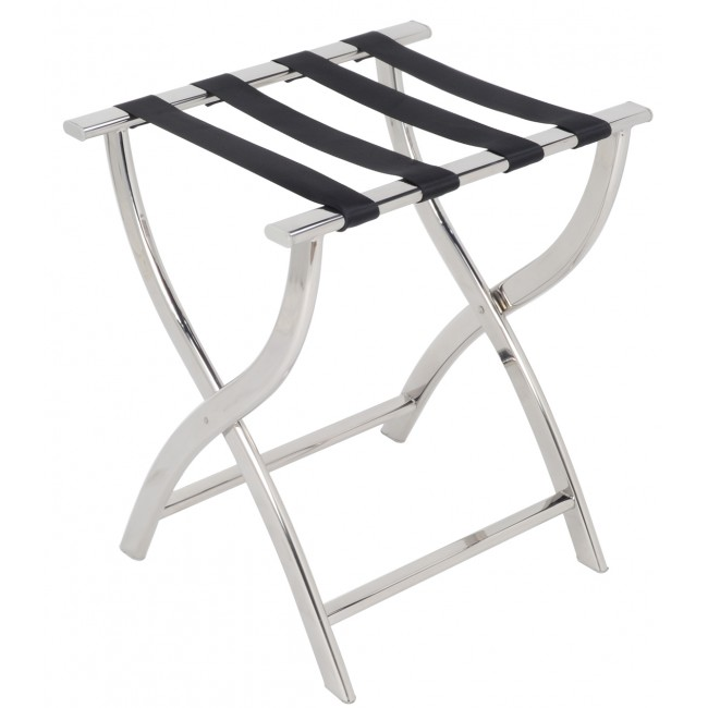 Folding Chrome Stainless Steel Luggage Rack